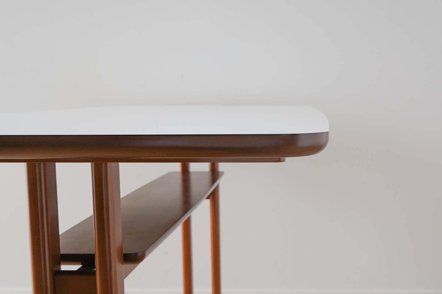 カリモク60+ カフェテーブル1200 天板エッジ