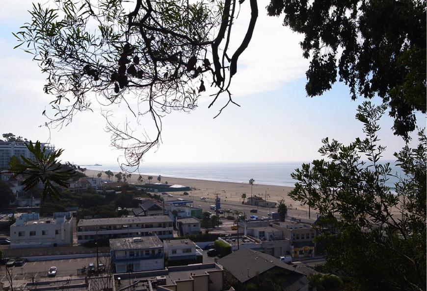 イームズハウスからのサンタモニカビーチの眺め