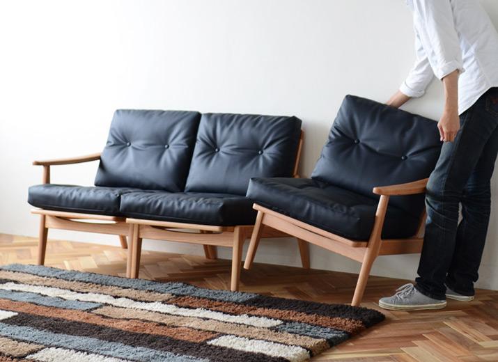 マルニ60 オークフレームチェアはセパレートできるソファ