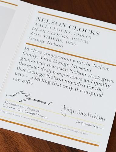 ヴィトラ(vitra)は唯一ネルソンクロックの正規品の製造が許されたメーカー