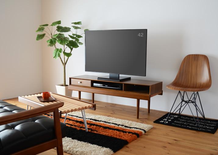 826STANDARD UNIT(826スタンダード ユニット)126cm テレビボード(テレビ台)Aセット ウッドレッグ [BAS3SW]